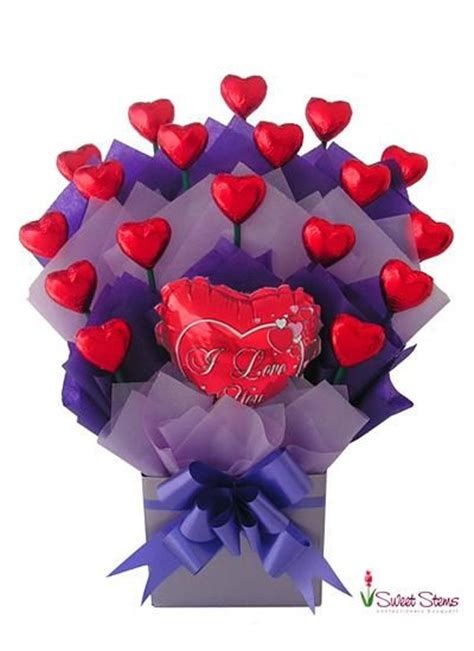 valentines flowers brisbane sweet chocolate bouquet florist sydney melbourne