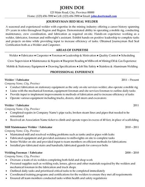 Welding Engineer Resume by 17 Best Images About Expert Gas Resume Sles On Finance Human Resources And