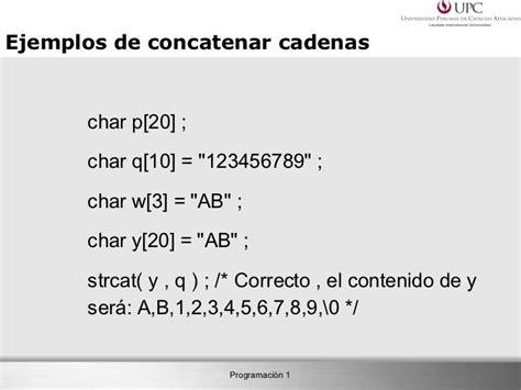 funcion concatenar cadenas en c capitulo 8 cadenas