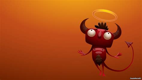 funny devil vector art wallpaper