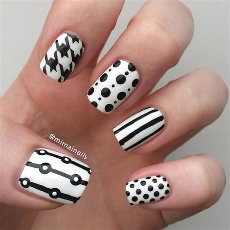 Different Nail Designs by 50 Best Black And White Nail Designs Stayglam
