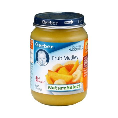 nature s select food gerber 3rd foods nature select spoonable smoothie fruit medley