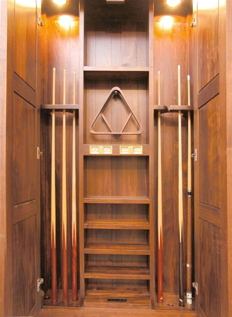 Cue Cabinet   Solid Wood Pool Cue Cabinet   High End Cue