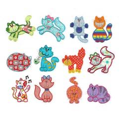 machine applique designs cat kitten applique machine embroidery designs