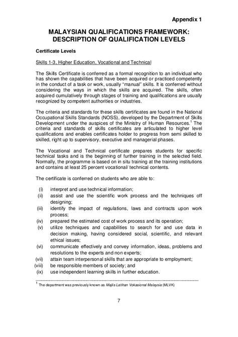 malaysian qualifications framework 2011
