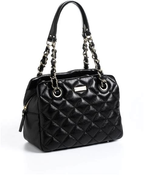 Kate Spade Black Quilted Purse by Kate Spade Elizabeth Leather Quilted Shoulder Bag In Black