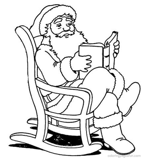 coloring pictures of father christmas santa claus coloring pages
