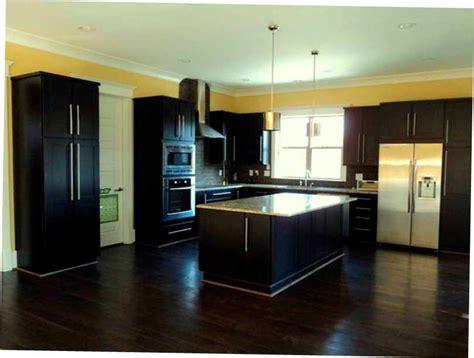 Dark Kitchen Cabinets With Dark Floors by Black Kitchen Cabinets Wood Floor Furniture Info Dark