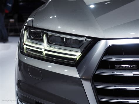 audi headlights in 2016 naias audi q7 headlight motoring rumpus