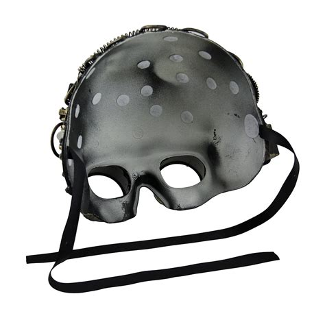 light up face mask metallic steunk half face led light up welding