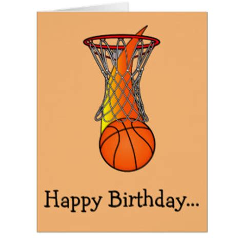 imagenes de happy birthday basketball basketball birthday large greeting cards zazzle