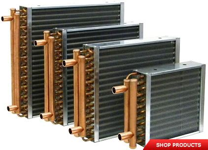 fan coil heat exchanger finned coil heat exchangers water to air heat exchangers
