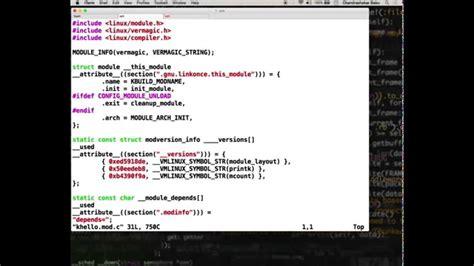 tutorial linux kernel programming linux kernel development demo screencast hello world
