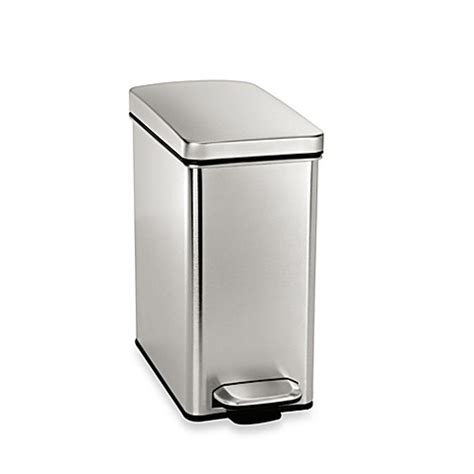 bed bath and beyond ca simplehuman 174 10 liter profile step wastebasket www