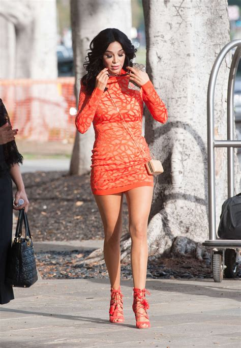 11 Dress Ruby Pink verona pooth in mini dress 11 gotceleb