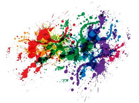 color paint splashes vector colourbox