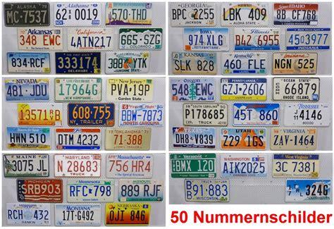 Motorrad Versand Usa Deutschland by 50 Nummernschilder Set Kennzeichen Lot Usa Schilder