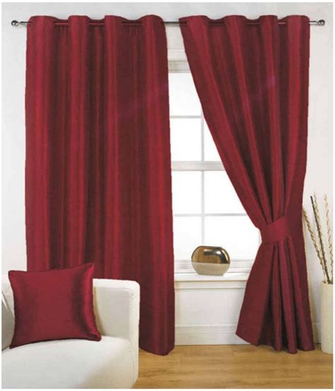 solid red curtains inaya s set of 4 window eyelet curtains solid red buy