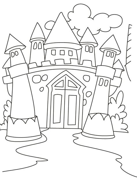 halloween coloring pages castle medieval castle coloring pages az coloring pages