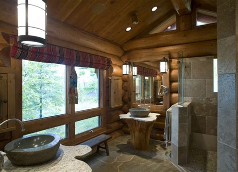 Log Cabin Bathroom Ideas by Log Home Design Rustic Bathroom Minneapolis By