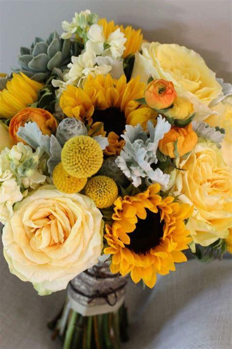 bouquet centerpieces sunflower wedding bouquets centerpieces mywedding