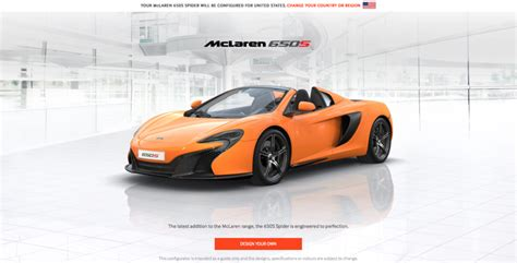design your dream truck mclaren lets you create your dream car in its configurator
