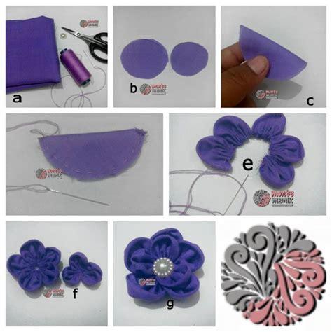 tutorial gambar ornamen tutorial bunga kain mayangsari montemanik com pusat bahan