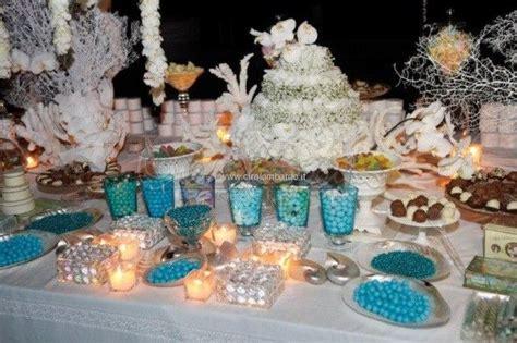 tavoli allestiti per matrimoni magica confettata dai toni marini per un matrimonio estivo