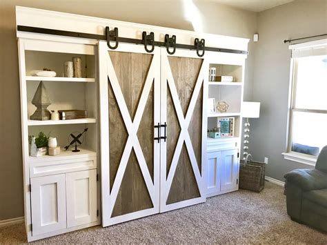 Sliding Barn Door Media Center Handmade Haven Barn Door Media Center