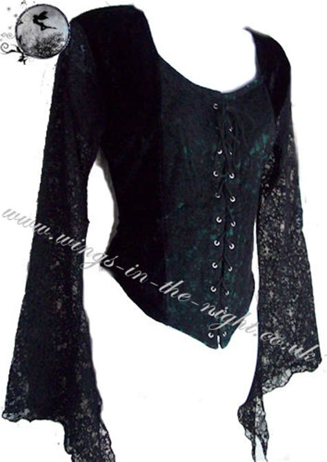 black clothing clothing black lace and velvet top