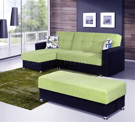 green microfiber sofa lego sectional sofa convertible in green microfiber by rain