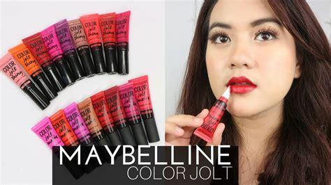 Lipstik Maybelline Warna 17 warna lipstik maybelline color jolt 3x more pigment