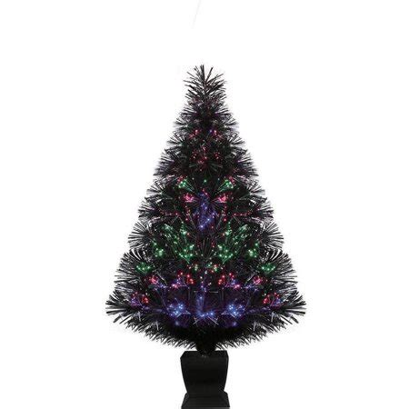 color changing christmas trees time artificial trees pre lit 32 quot fiber optic artificial tree black color