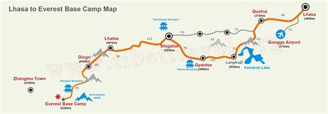 mount everest map the ultimate mt everest tourist route maps