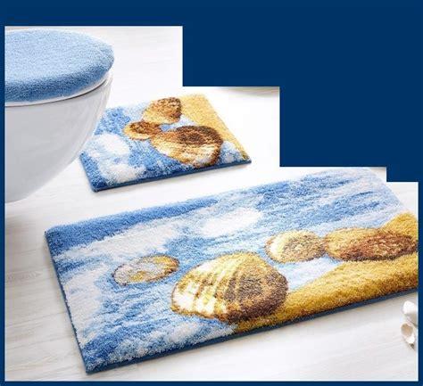 teppich marken marken badematte blau gelb braun 3tlg bad garnitur oder