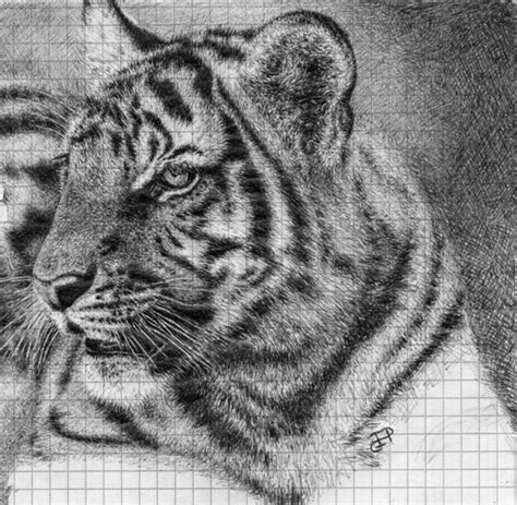 Ballpoint Pen Tiger Uni Doodle By Illusion On
