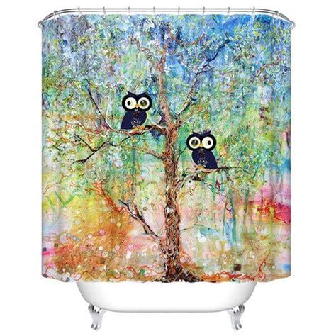 cartoon shower curtain waterproof mouldproof cartoon owls printed shower curtain