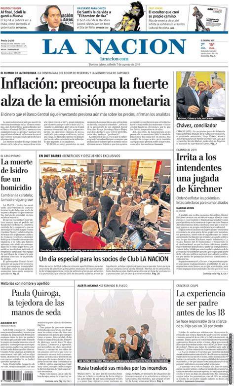 la nacion argentina portada peri 243 dico la naci 243 n argentina todos los
