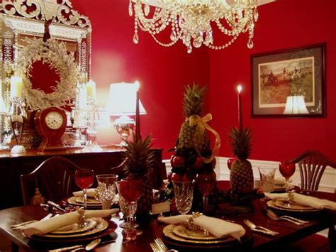 Martha Stewart Dining Room Table colonial williamsburg christmas table setting with apple