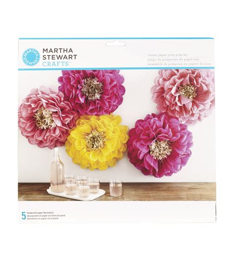 martha stewart tissue paper pom pom kit chrysanth flowers