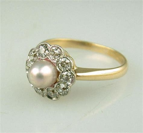 pearl engagement rings design your own wedding and