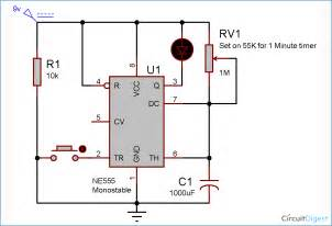 1 minute 5 minute 10 minute and 15 minute timer circuit diagram using ic 555