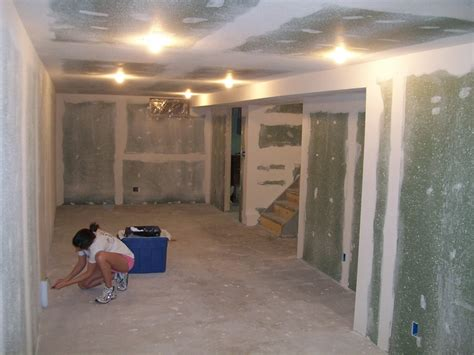 drywall for basements basement part 2 a running with some