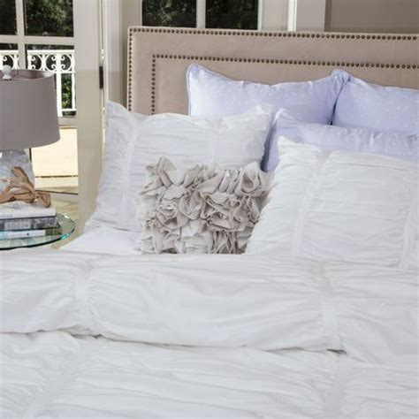 white ruched bedding the mirabel white ruched duvet cover crane canopy
