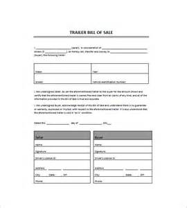 bill of sale template for trailer bill of sale template 39 free word excel pdf