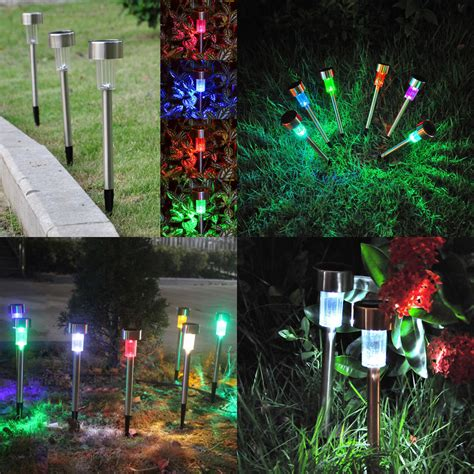 Color Changing Led Landscape Lighting 10x Color Changing Outdoor Garden Led Solar Powered Landscape Lights Lawn L Ebay
