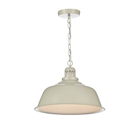 Cream Painted Metal Ceiling Pendant Light In Urban Metal Ceiling Light