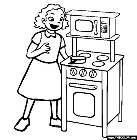 kitchen set picture to color toys online coloring pages page 1