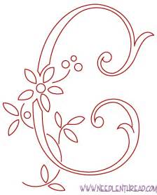embroidery templates letters letter c template