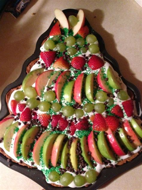 fruit pizza christmas tree made for my daughter s pj